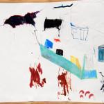 caravan site lahinch / ink pastel 1990