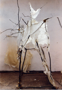 image of white transparent wax sculpture