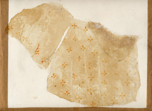 dress /  tea tissue paper glue ink 1994